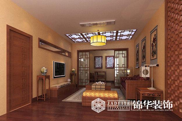 洛城上院中式风格别墅效果图装修图片-别墅图片大全