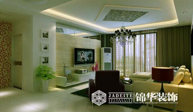紫金门简约风格三室两厅装修效果图