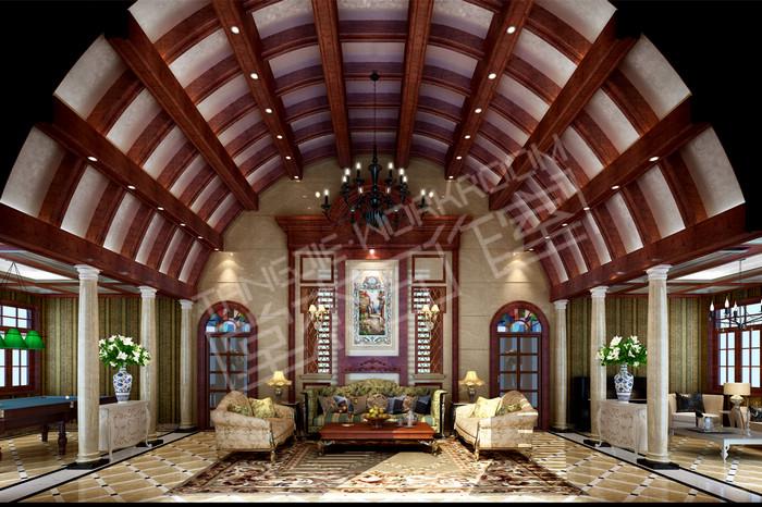 威尼斯花园900平欧式风格别墅效果图