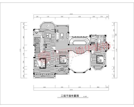 别墅图片大全 楼盘项目:平湖城780平欧式风格效果图  设计师:赵娟