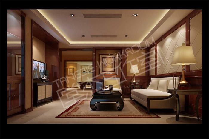 蠡湖尚郡300平美式风格效果图图片