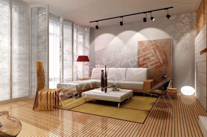 万达公寓150平现代简约风格实景样板间装修图片-三室