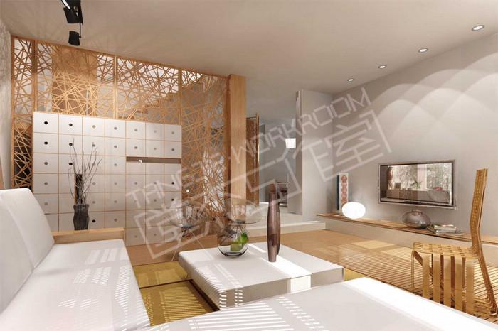 萬達公寓150平現代簡約風格實景樣板間裝修圖片-三室