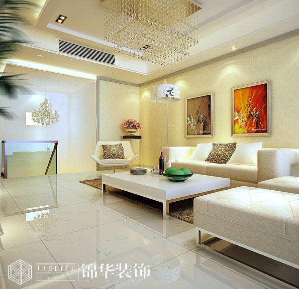 东方王榭270平现代简约风格效果图装修图片-大户型