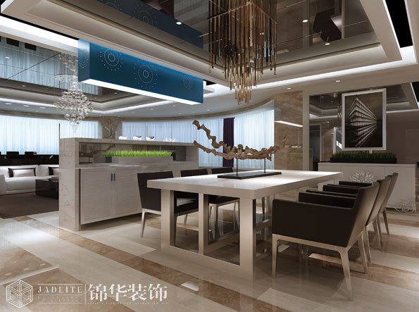 名园四室两厅现代简约风格效果图装修图片-大户型