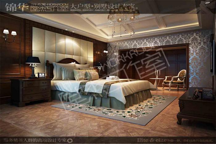 复地澜湾328平美式乡村风格效果图 装修图片-别墅图片