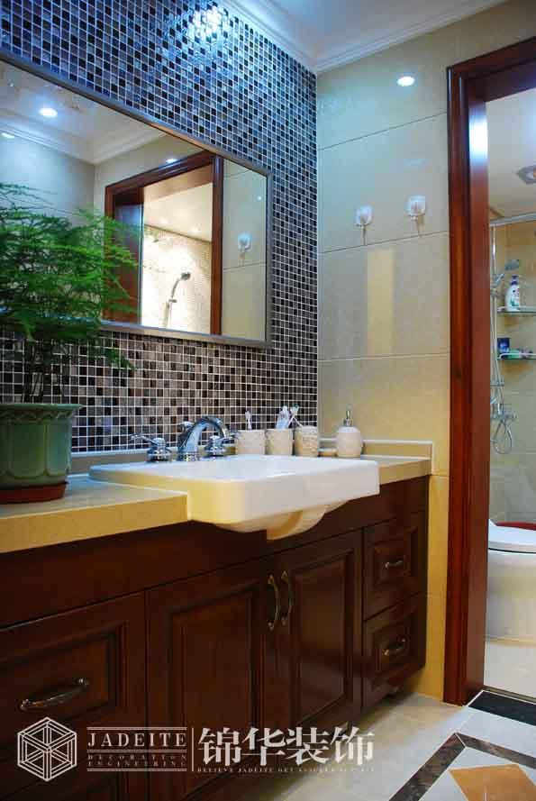 名称 卫生间装修效果图 洗手池 无锡锦华装饰