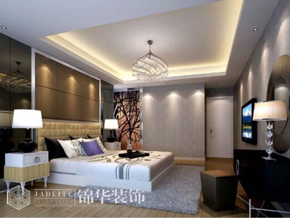 复地公园城邦110平三室两厅两卫现代简约风格效果图