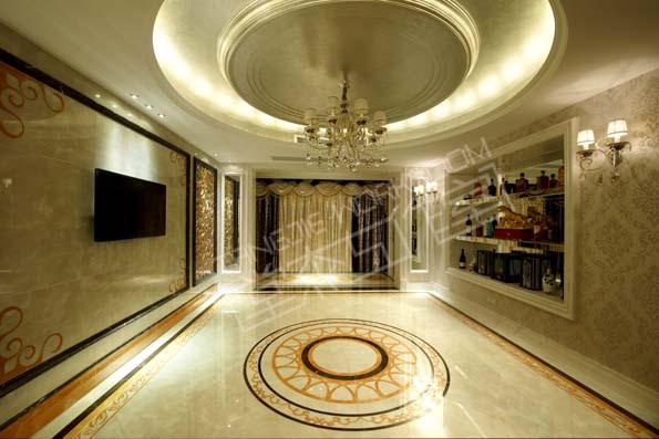 太湖国际大户型后奢华风格效果图装修图片-大户型