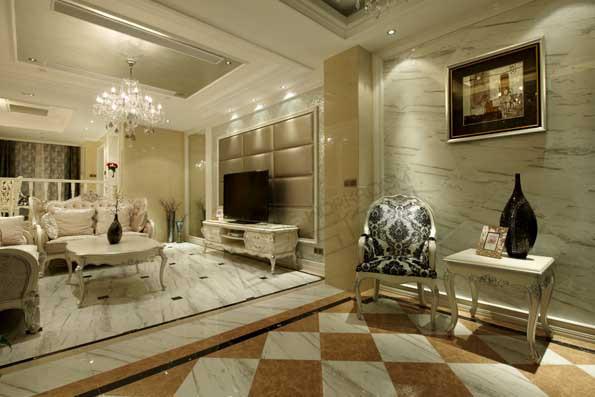 太湖国际250平方欧式后奢华风格实景图装修图片-大