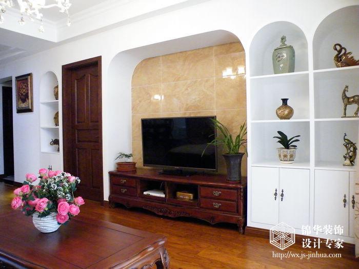 奥林花园130平简约美式三室两厅两卫实景图装修图片