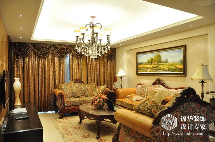 太湖国际130平三室两厅一卫欧式风格实景图装修图片