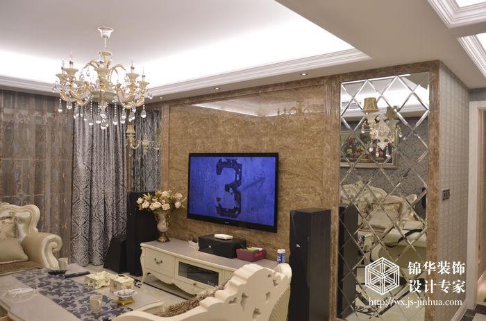 富城湾138平三室两厅两卫简欧风格实景图装修图片-图