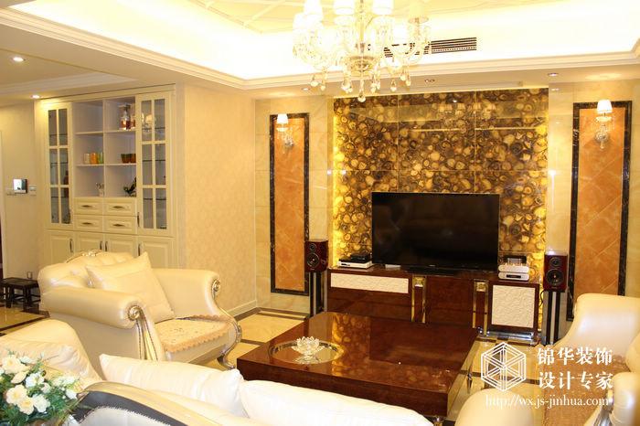 时代上城三室两厅简欧风格实景图装修图片-三室两厅图