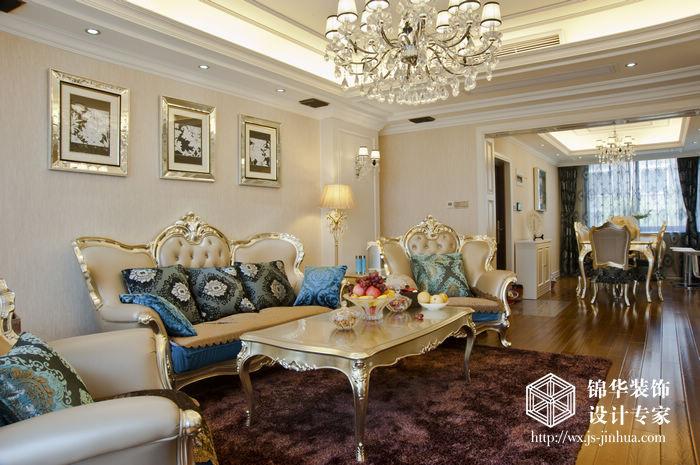 华夏泉绅欧式新古典风格实景图装修图片-三室两厅