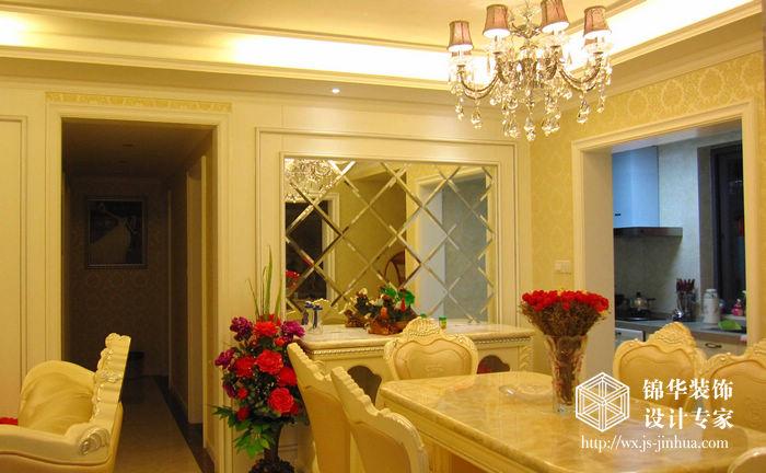 时代上城127平四室两厅简欧风格婚房实景样板间装修图片 三室两厅装