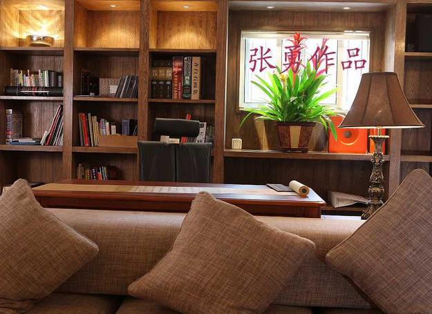 客厅,开放式书房效果图   客厅书房效果图设计图   客厅开放