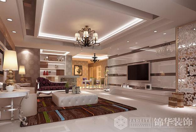 东方王谢装修图片-三室两厅装修效果图-现代简约风格