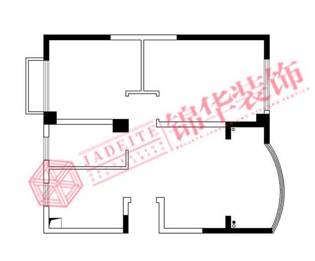 江苏锦华装饰无锡分公司装修图片-三室两厅装修效果
