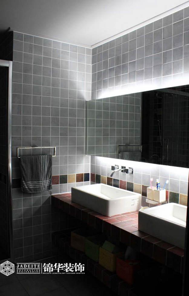 黑白灰马赛克卫生间装修效果图
