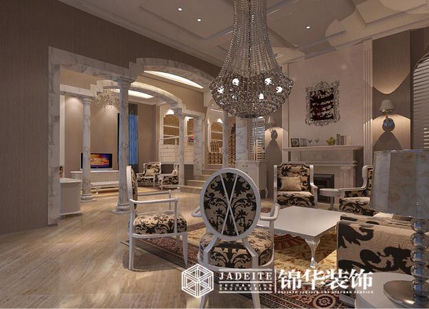 最新白色简欧风格别墅客厅装修效果图